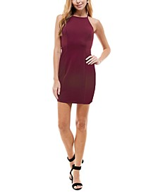 Juniors' Strappy-Back Bodycon Dress