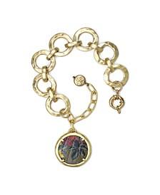 Lili Hammered Link Bracelet