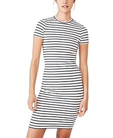 Essential Short Sleeve Bodycon Midi Dress