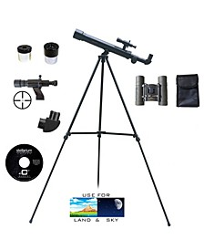500mm x 45mm Starter Telescope Kit with 8 x 21 Compact Binocular and Case