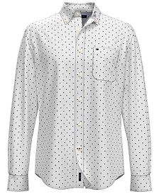 Men's Hunter Leaf-Print Cotton Shirt