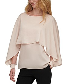 Long-Sleeve Cape Top