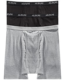 Men's Big & Tall 3-Pack Boxer Briefs, Created for Macy's