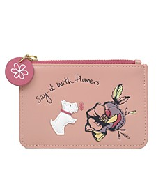 Say It With Flowers Small Zip Top Coin Purse