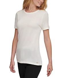 Short-Sleeve Crew-Neck Top