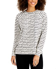 Festive Cursive Sweatshirt, Created for Macy's