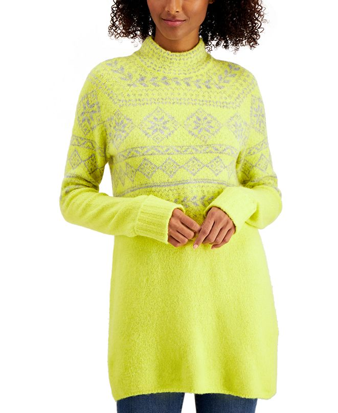 Style & Co Fair-Isle Tunic Sweater, Created for Macy's