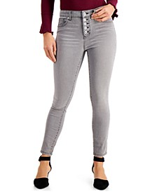 Button High-Rise Ankle Jeans, Created for Macy's