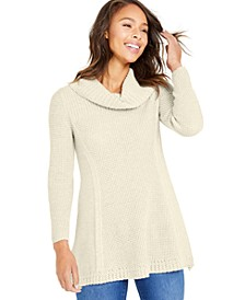 Waffle-Knit Cowlneck Sweater, Created for Macy's