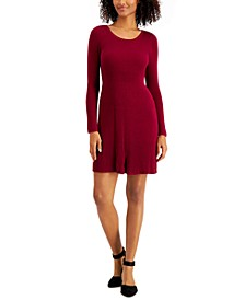 Petite Ribbed Sweater Dress, Created for Macy's