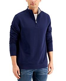 Men's Stretch Quarter-Zip Fleece Sweatshirt, Created for Macy's