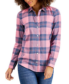 Style & Co Flannel Plaid Shirt, Created for Macy's