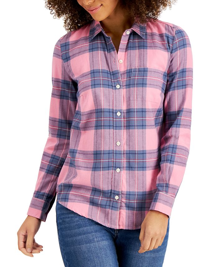 Style & Co - Cotton Plaid Shirt, Created for Macy's