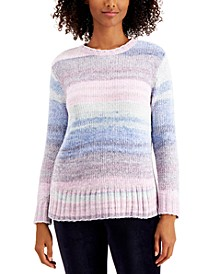 Printed Chenille Sweater, Created for Macy's, Regular & Petite