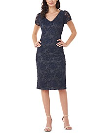 Soutache Embroidered Sheath Dress