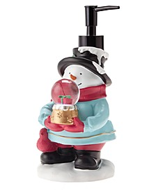 Snowman with Snow Globe Holiday Lotion Pump