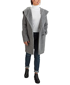 Hooded Teddy Asymmetrical Coat