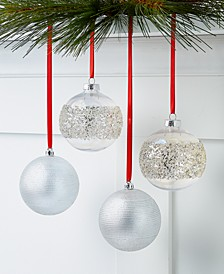 Shine Bright Shatterproof Ornaments, Set of 4, Created for Macy's