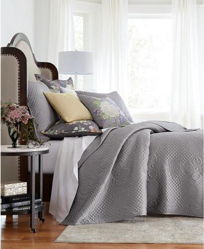 Hotel Collection - Classic Grand Bouquet Coverlet, Created for Macy's
