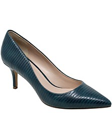 Women's Admission Croco Pumps
