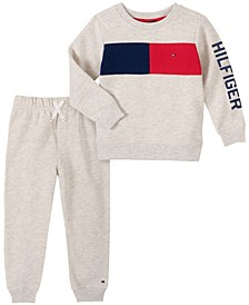 Baby Boys Flag Stripe Top Pant Set