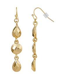 Gold-Tone Linear Drop Earring