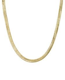 "Gold-Tone Herringbone Chain 18"" Necklace"