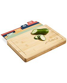 5-Pc. Bamboo Board & Cutting Mat Set