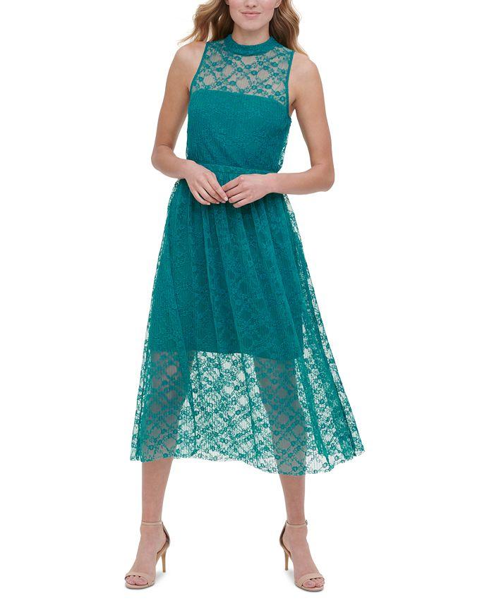 kensie - Sleeveless Lace Midi Dress
