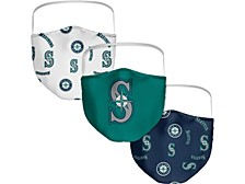 Seattle Mariners 3-Pk. Face Mask