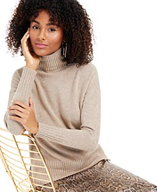 Lurex Cashmere Turtleneck Sweater, Created for Macy's