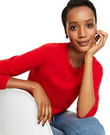 Petite Crew-Neck Cashmere Sweater, Created for Macy's