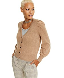 Cashmere Balloon-Sleeve Cardigan, Created For Macy's