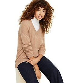 Cashmere Oversized V-Neck Sweater, Created for Macy's
