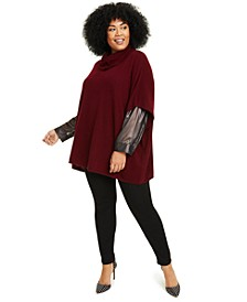 Plus Size Cashmere Cowlneck Poncho, Created for Macy's