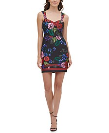Printed Sweetheart Bodycon Dress