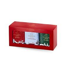Holiday Hot Cocoa Chocolate Gift Box, 3 Tin Set