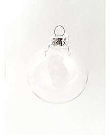 Glass Christmas Ornaments, Box of 6