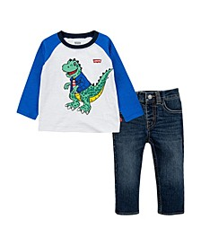 Baby Boys Raglan T-Shirt and Jeans Set