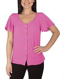 Women's Plus Size Short Sleeve Top
