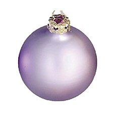 Matte Glass Christmas Ornaments, Box of 12