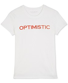 Cotton Optimistic Graphic T-Shirt
