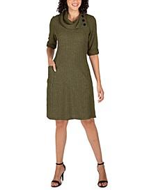 Petite Cowlneck Knit Sweater Dress