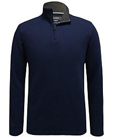 Men's Mock-Neck Quarter-Zip Sweater, Created for Macy's