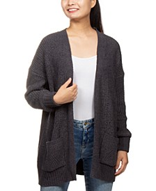 Juniors' Soft Chenille Cardigan