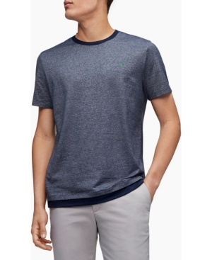 Calvin Klein Men's Micro Stripe Double Layer Crewneck T-Shirt