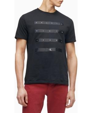 Calvin Klein Men's Satin Stripe Logo Crewneck T-shirt