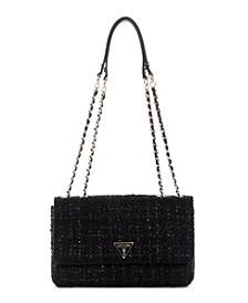 Cessily Tweed Convertible Shoulder Bag