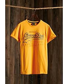 Men's Vintage-like Logo Embossed T-shirt