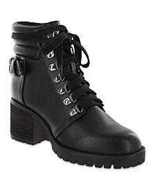 Women's Broderick Vegan Leather Combat Boots